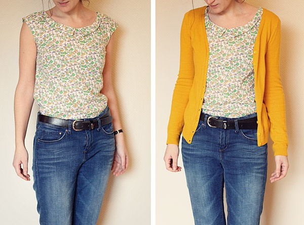Sorbetto top by tidytipsy: Sorbet Tops, Tops Variations, Cute Tops, Sewing Projects, Floral Sorbetto, Sorbetto Variations, Style Inspiration, Colette Sorbetto, Sewing Inspiration