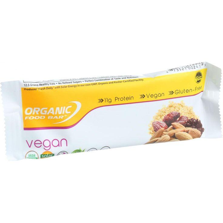 Organic Food Bar - Vegan - 2.4 oz Bars - Case of 12