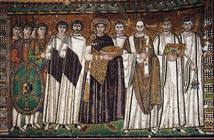 Mozaic of Byzantine Emperor Justinian, San Vitale