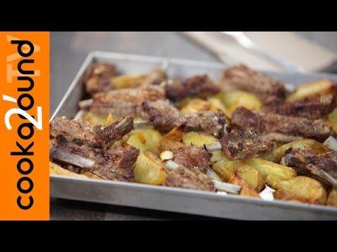 Rosticciana al limone e origano con patate - YouTube