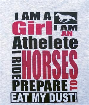 Horse t-shirt. I couldn't have said it better. (or without my voice shaking!)