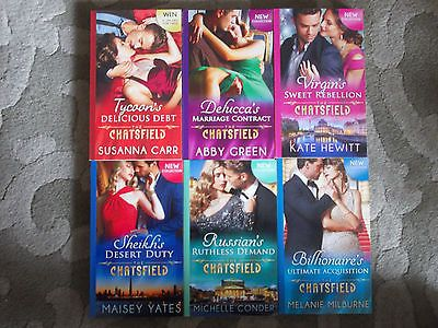 """New Mills & Boon """"The Chatsfield Collection"""" 6 X Paperback Books"""