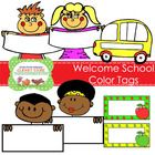 Welcome Back School - Color Name Tags Cliparts Set for Personal and Commercial Use   This set includes 16 different School Name Tags  in 2 formats:...
