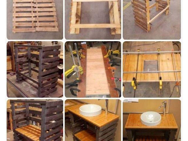 Decouvrez 25 Idees Palettes Speciale Salle De Bain Salle De Bains Palette Palette Bois
