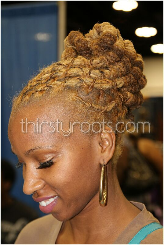 Dreadlocks Updo Hairstyles For Women Hair Color Ideas And Styles