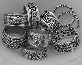 pretty silver rings