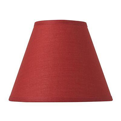 Pince Abat-jour conique en coton rouge D14cm