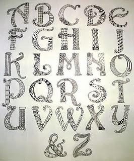 Hand Lettered Alphabet