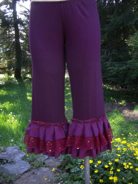 Luxurious bamboo lycra bloomers in plum with layers by getjuliet, $65.00