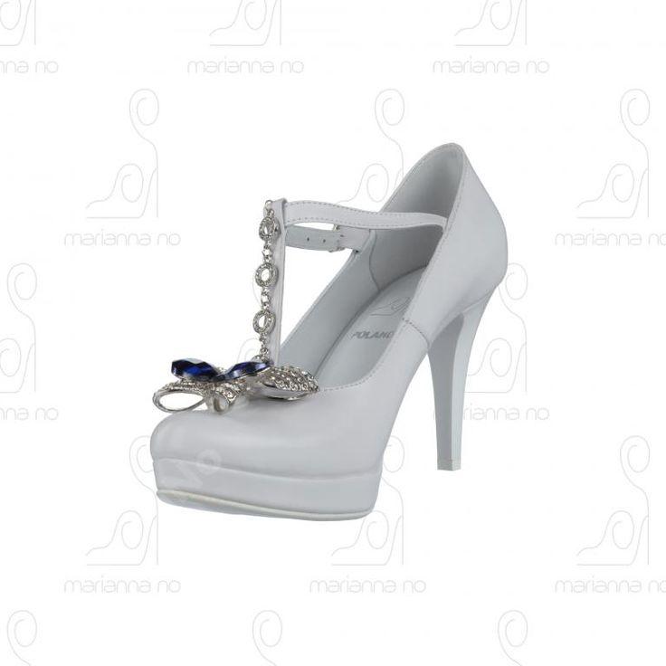 Buty Ślubne Białe Skóra Naturalna 35-40