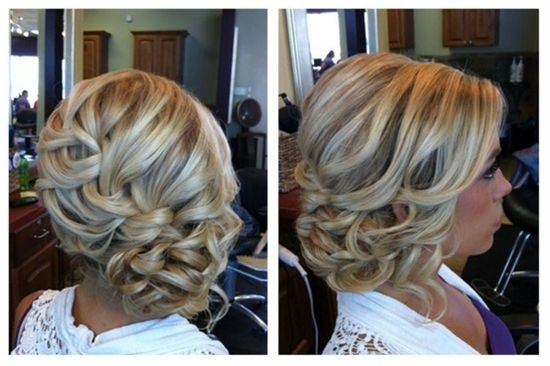 waterfall braid updo. pretty - Click image to find more Hair & Beauty Pinterest pins