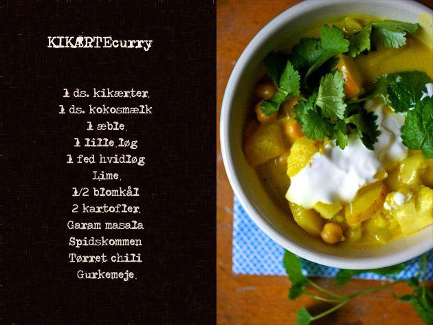 Krydret Curry med Kikærter.