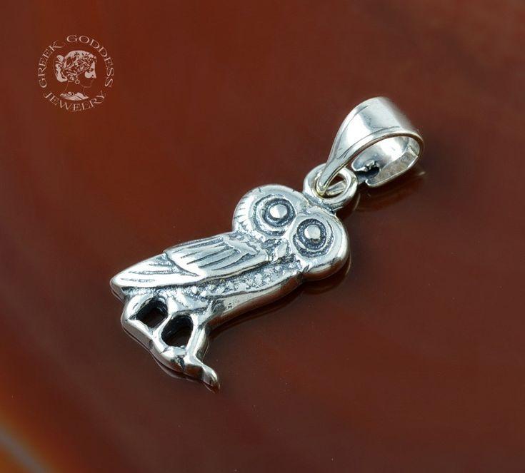 owl silver pendant, owl pendant, silver owl, antique pendant, ancient pendant…