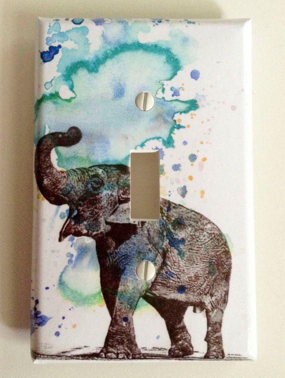 Elephant Decorative Light Switch Cover Plate Great di idillard