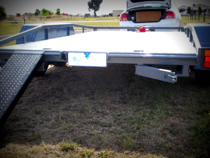 Julian's Flatbed Tilt Trailer - Built from the 2500KG FLATBED TILT TRAILER PLANS - www.trailerplans.com.au