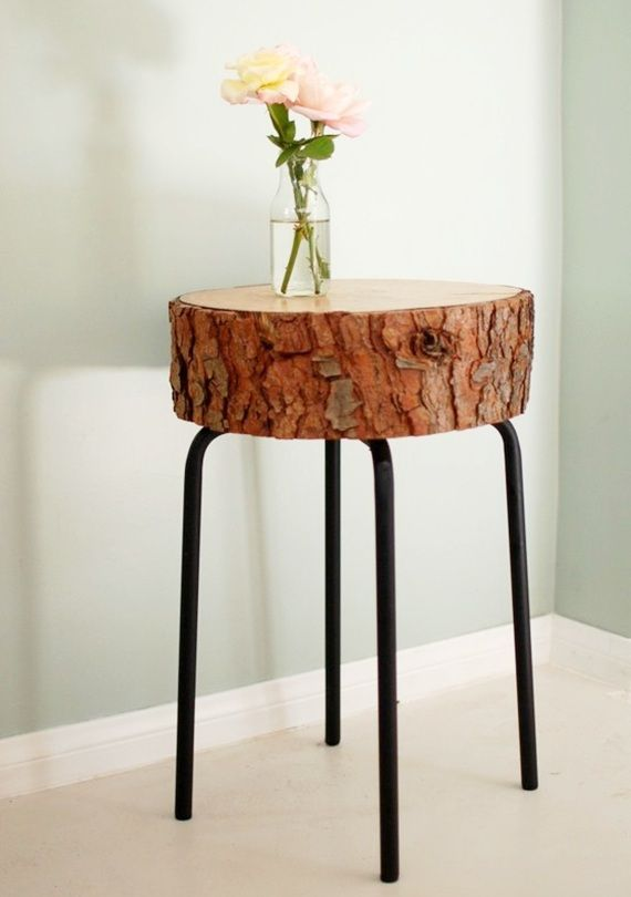 banquinho de tronco