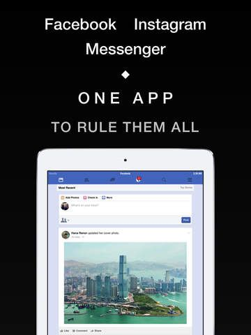 Friendly Social : login with multiple facebook, instagram or messenger accounts on the App Store