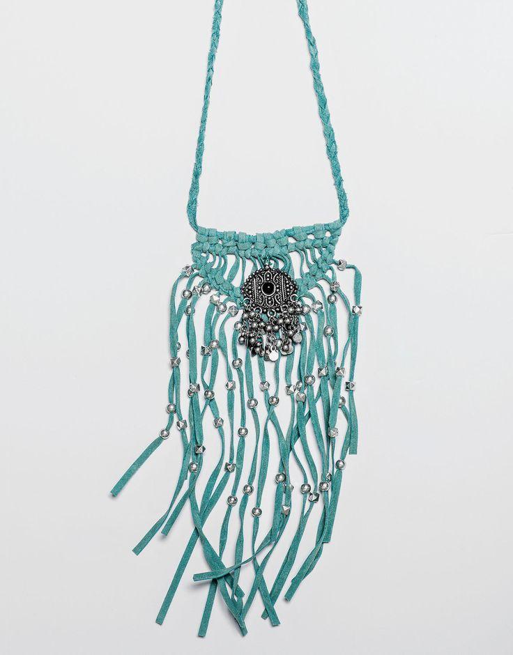 Ожерелье с бахромой бирюзового цвета - Бижутерия - Аксессуары - Для Женщин - PULL&BEAR Российская Федерация