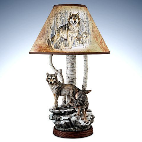 Spirits Of The Forest Al Agnew Wolf Lamp