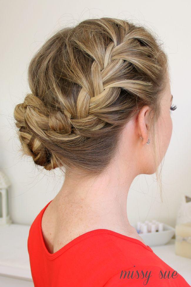 Waterfall Dutch French Braided Bun Bun Hairstyles