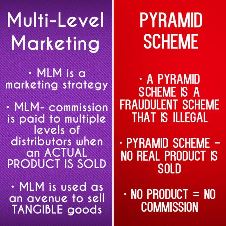 Multi-Level Marketing versus Pyramid Scheme
