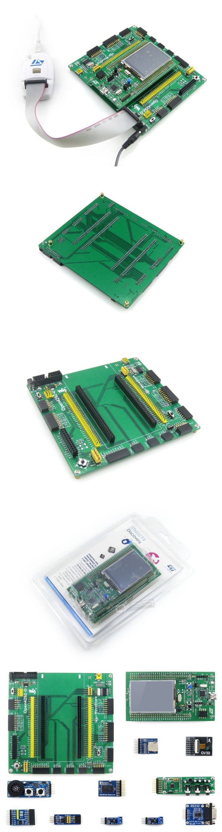 Waveshare Open429Z-D Package B with 32F429IDISCOVERY STM32F429ZIT6 STM32 ARM Cortex M4 Development Board +10pcs Modules Kits