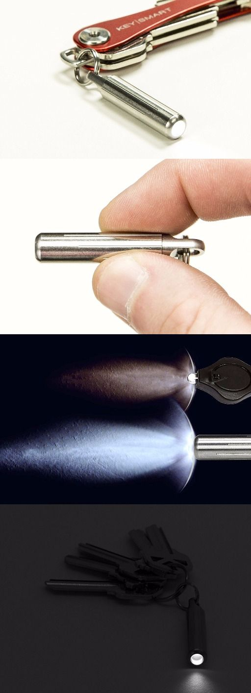 KeySmart Nano Torch Stainless Steel Keychain EDC Everyday Carry Flashlight @aegisgears