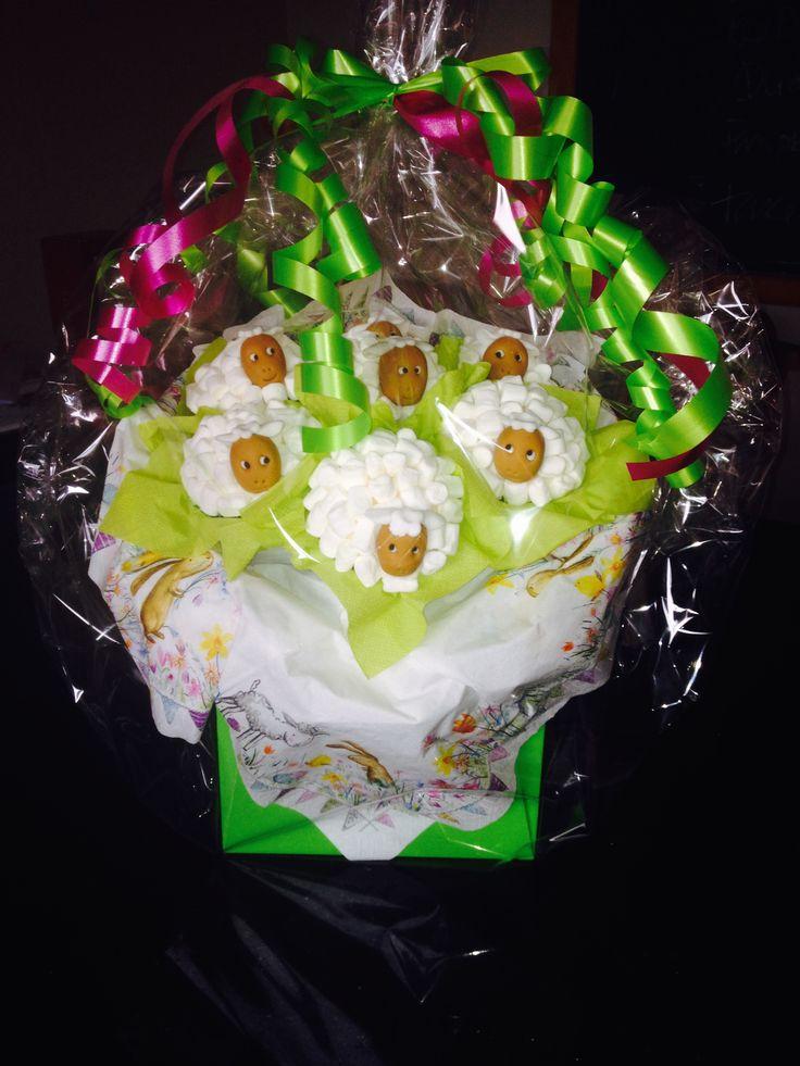 Sheep Cupcake Bouquet