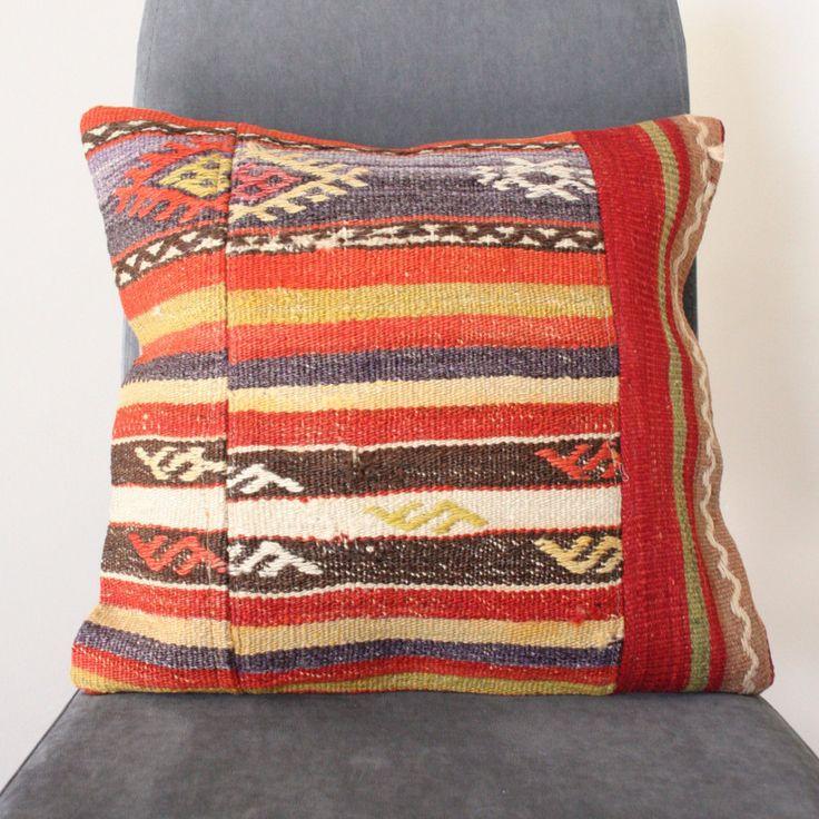 Vintage Hand Woven Kilim Cushion