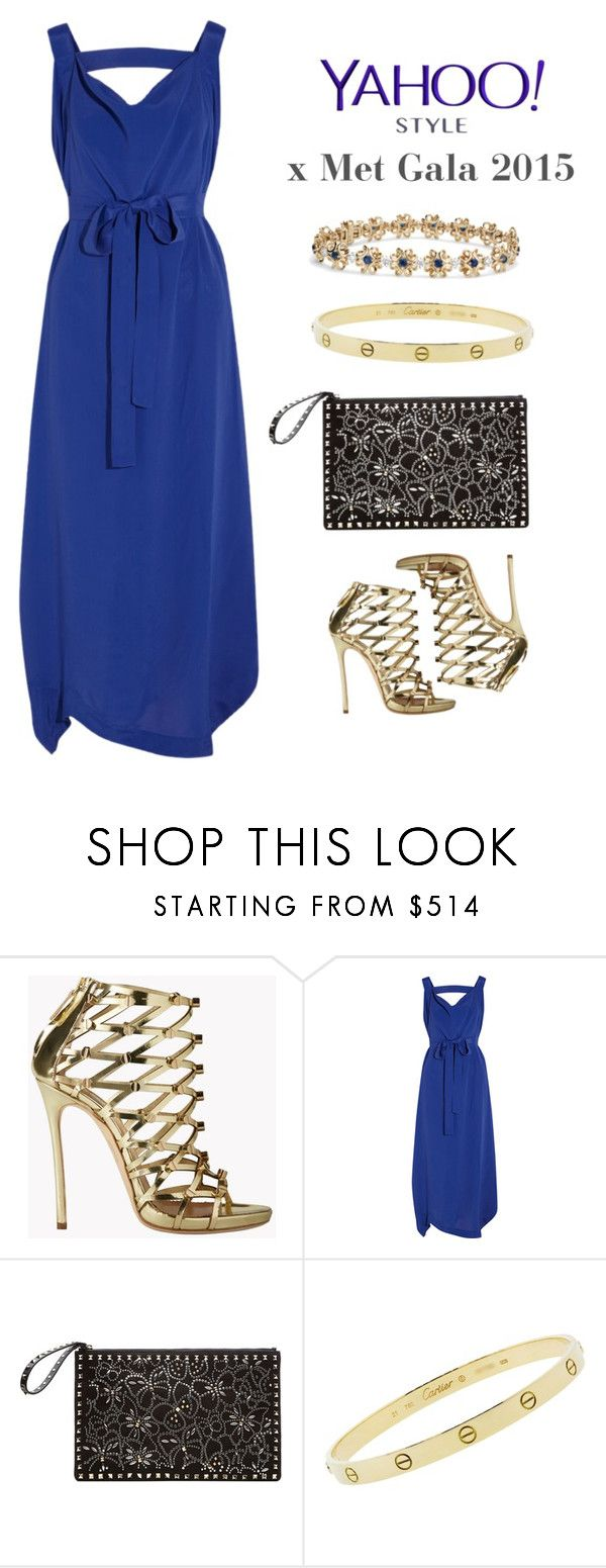 """""""Yahoo Style x Met Gala 2015"""" by mara-petcana ❤ liked on Polyvore featuring Dsquared2, Vivienne Westwood Anglomania, Valentino, Cartier, contestentry and yahoostyle"""