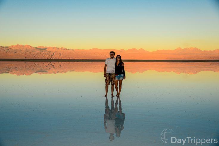 Lagoa espelho Tebinquinche - San Pedro de Atacama, Chile.