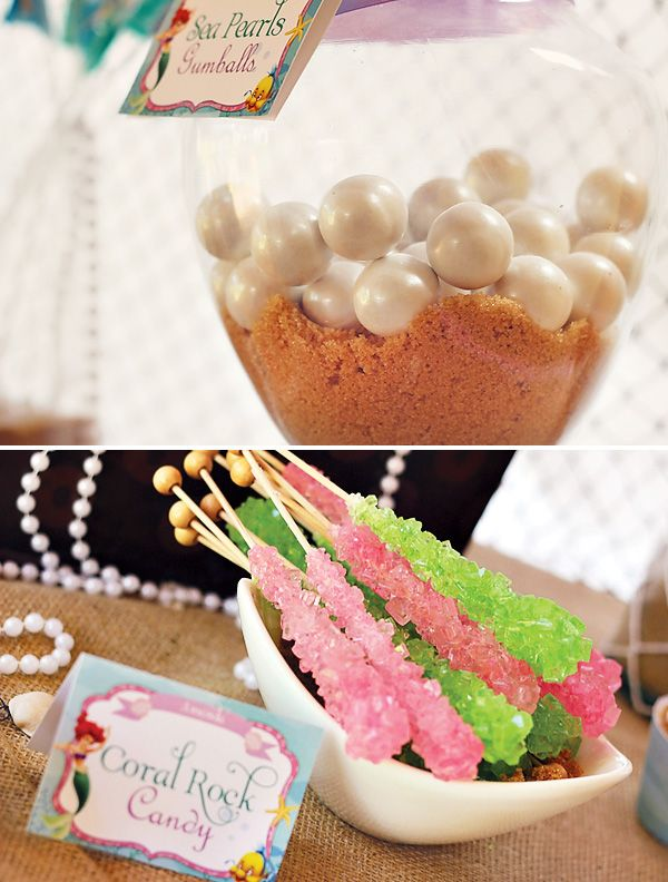 Treats for your little mermaid party!