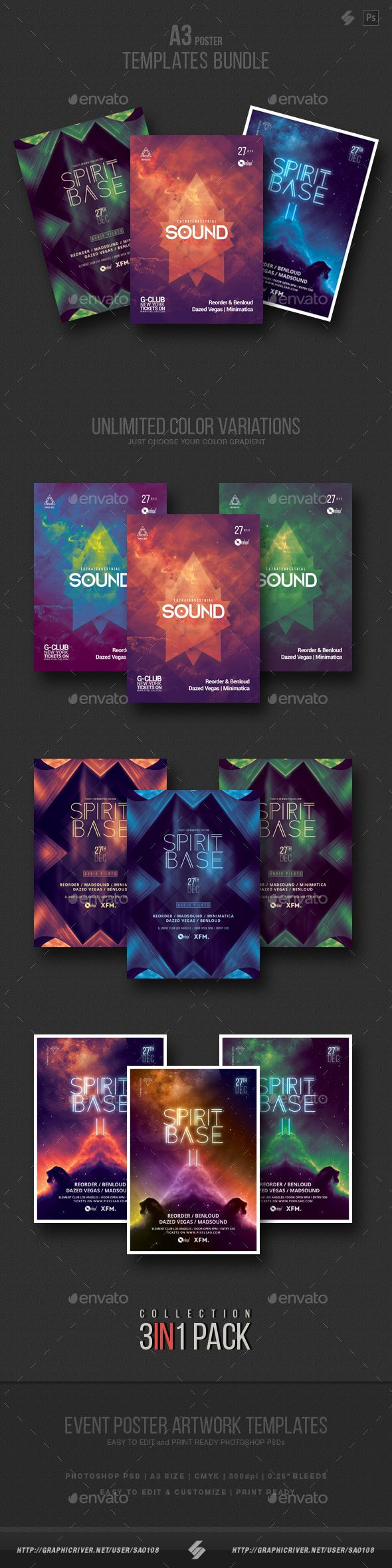 Progressive Sound vol.5 - Party Flyer / Poster Templates Bundle. Download: https://graphicriver.net/item/progressive-sound-vol5-party-flyer-poster-templates-bundle/19277666?ref=thanhdesign