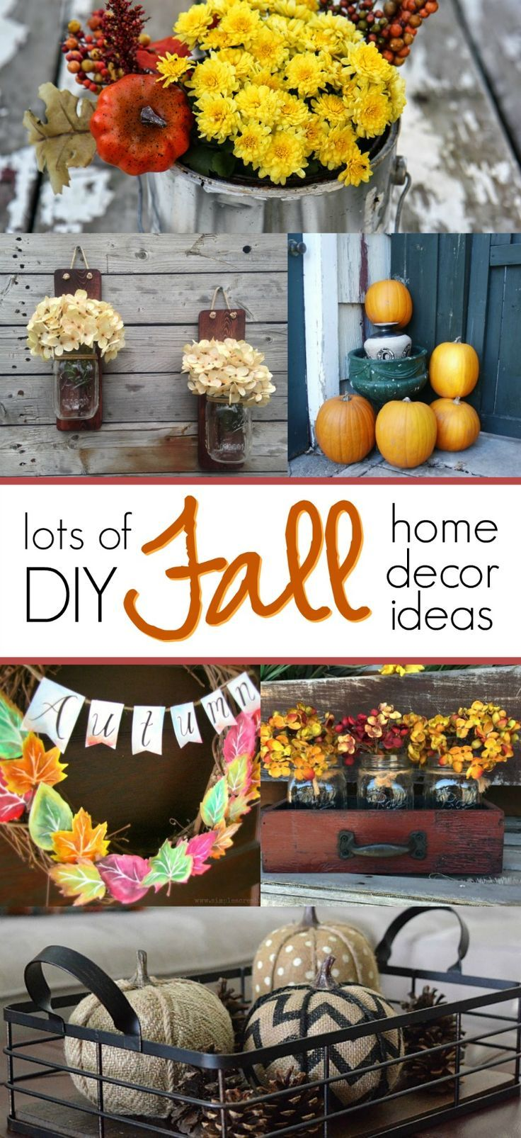 15 DIY Fall Home Decor Ideas To Try   Love These Autumn Inspired Ideas!