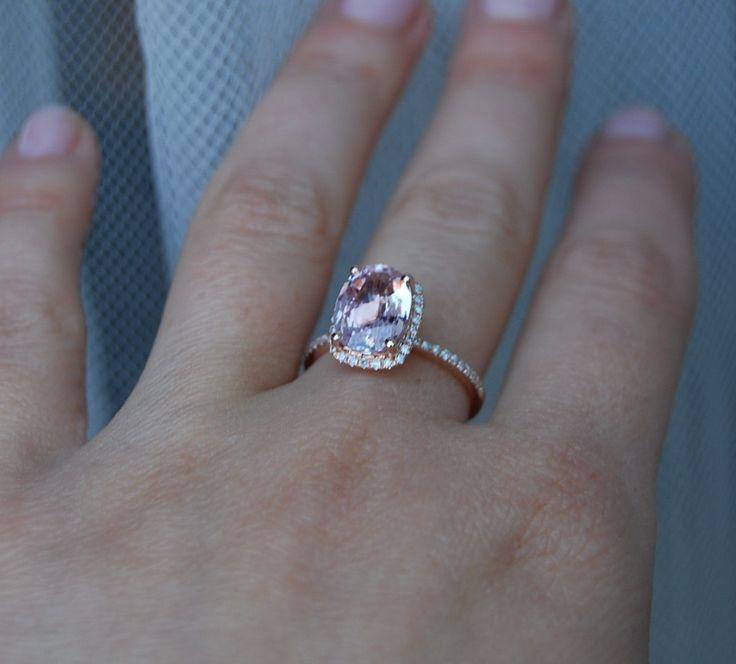 2.75ct Cushion raspberry peach champagne sapphire by EidelPrecious, $3,100.00