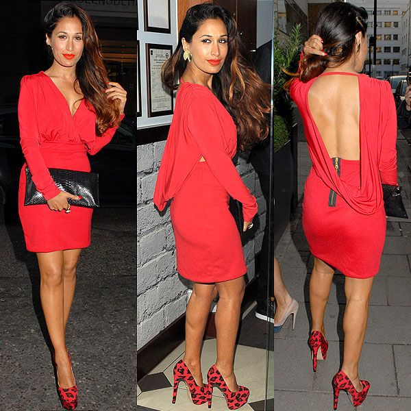 How to Wear Red on Your Birthday: Preeya Kalidas' Full Fiery Red Outfit