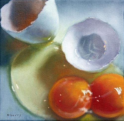 """Daily Paintworks - """"BREAKFAST"""" - Original Fine Art for Sale - © Suzanne Berry"""