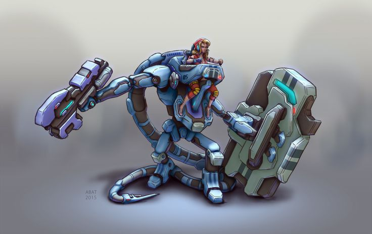 Robot_Special Forces, Aleksei Batuev on ArtStation at https://www.artstation.com/artwork/JE3Ba
