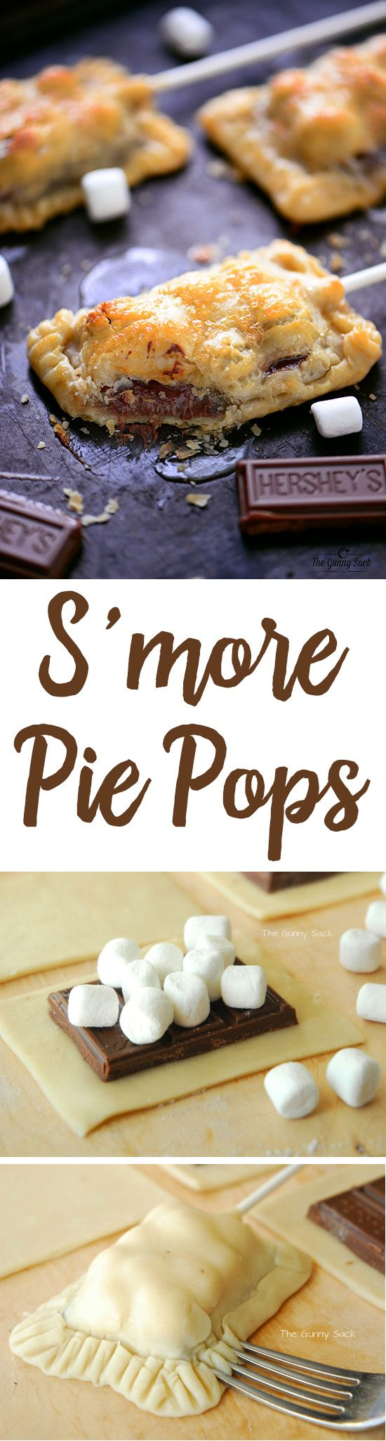 A s'more is a quintessential summer dessert and this easy S'more Pie Pops recipe…