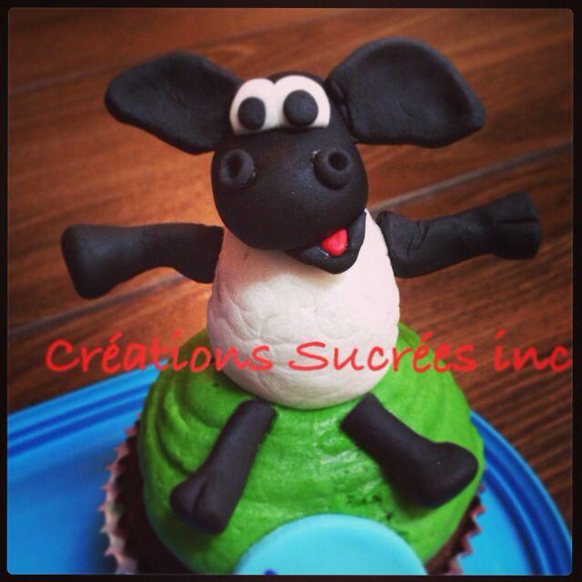 Timmy le mouton! Figurine de sucre faite à la main.