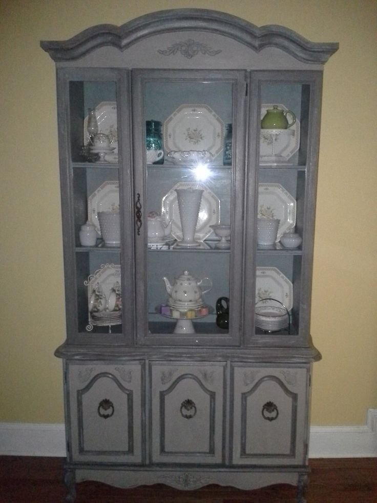 Nice China Hutch Makeover Using American Paint Companyu0027s Smoke Signal,  Freedom Road And Dollar Bill