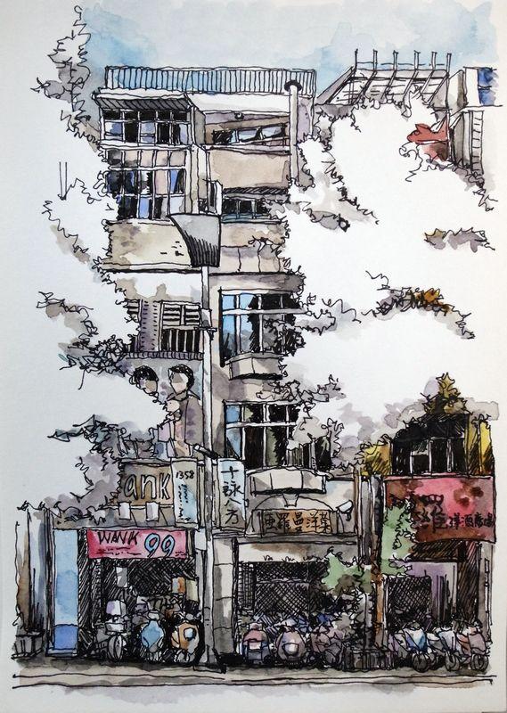 sketchbook // Yiwei Peng // urban sketches