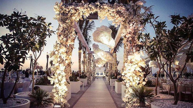 Indian couple's mesmerizing wedding at Burj Al Arab Terrace  Read more on>http://weddingstreet.in #WeddingStreet #WeddingPlanners #WeddingGuide #WeddingBudget #WeddingPlaning #Destinationwedding