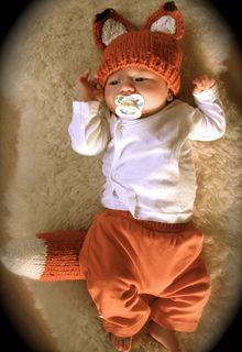 Free Pattern - We love designer Kristen Cooper's adorable Woodland Fox Baby set, #knit in Bernat Softee Chunky!