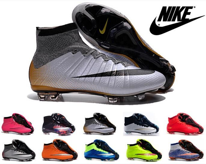 Nike Mercurial Superfly 4 FG Kids Soccer Shoes Boots mens CR7 Cleats Laser  Youth Women Boy\u0027s
