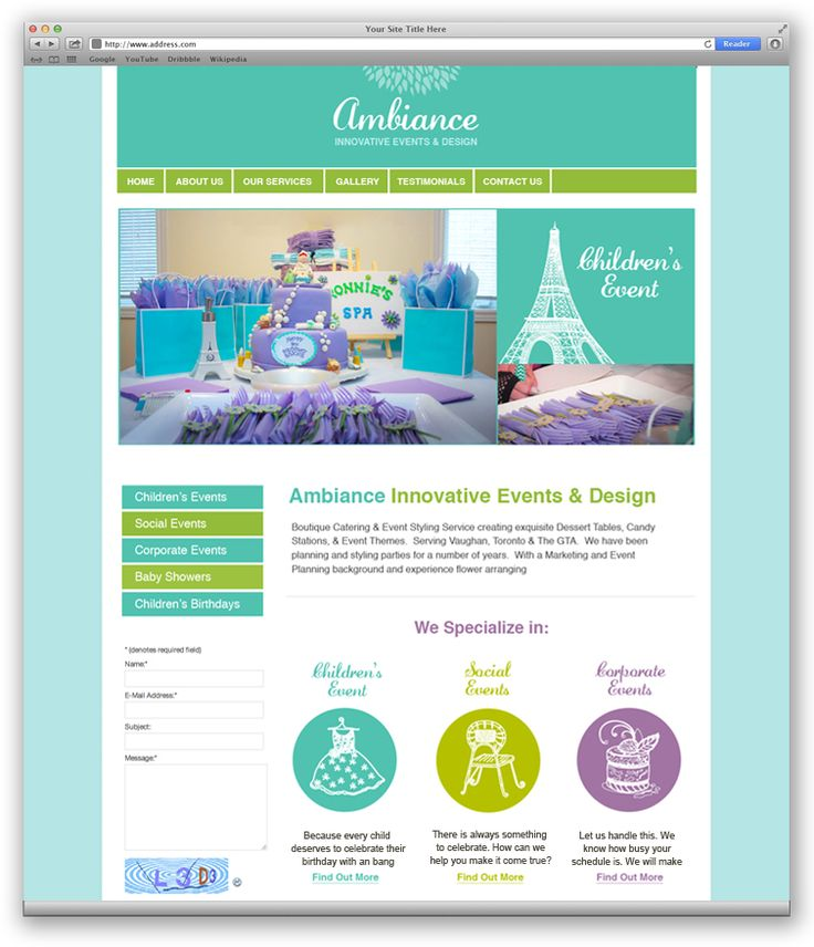 Ambiance | Web Design Portfolio | Other Industries | Toronto | Richmond Hill | North Toronto | www.magentadesign.ca