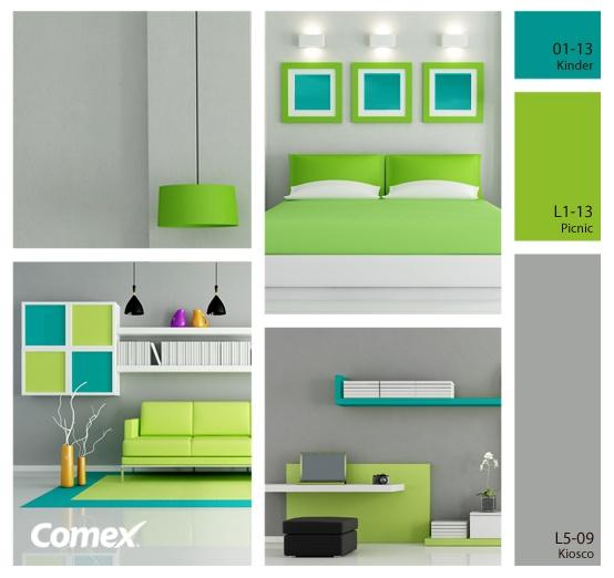 Sin duda, los colores ideales para lograr que un ambiente proyecte mucha energía, alegría y luz.     #Comex #decoracion #hogar