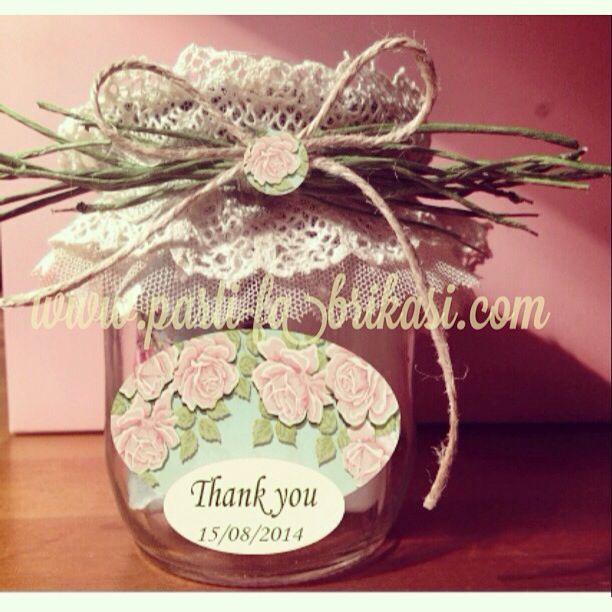 Spa in a jar bridal shower