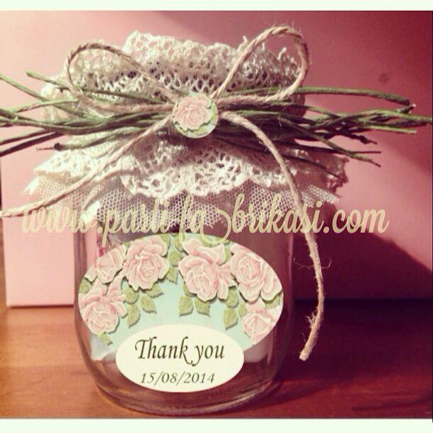 Spa in a jar bridal shower