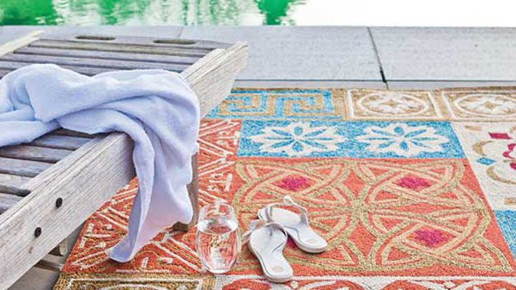 Tapis Contemporain Tapis Exterieur Namada Multi Couleur Saint Maclou D Co Pinterest Saints